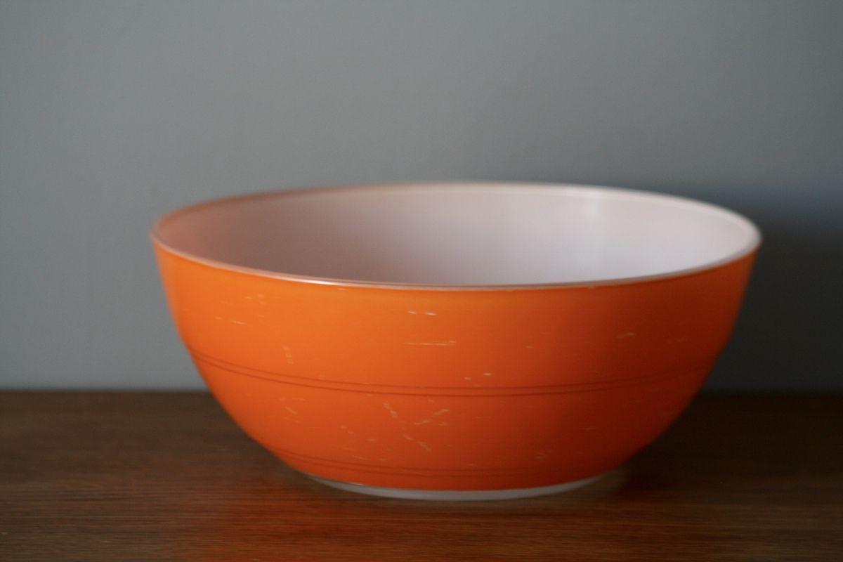 Saladier Duralex orange Années 70 - Vintage