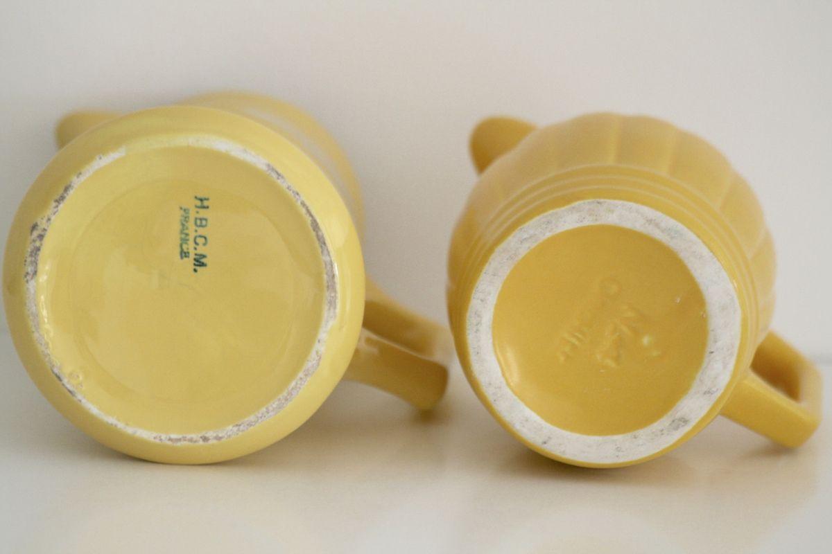 Pichet jaune HBCM ou Orchie Vintage