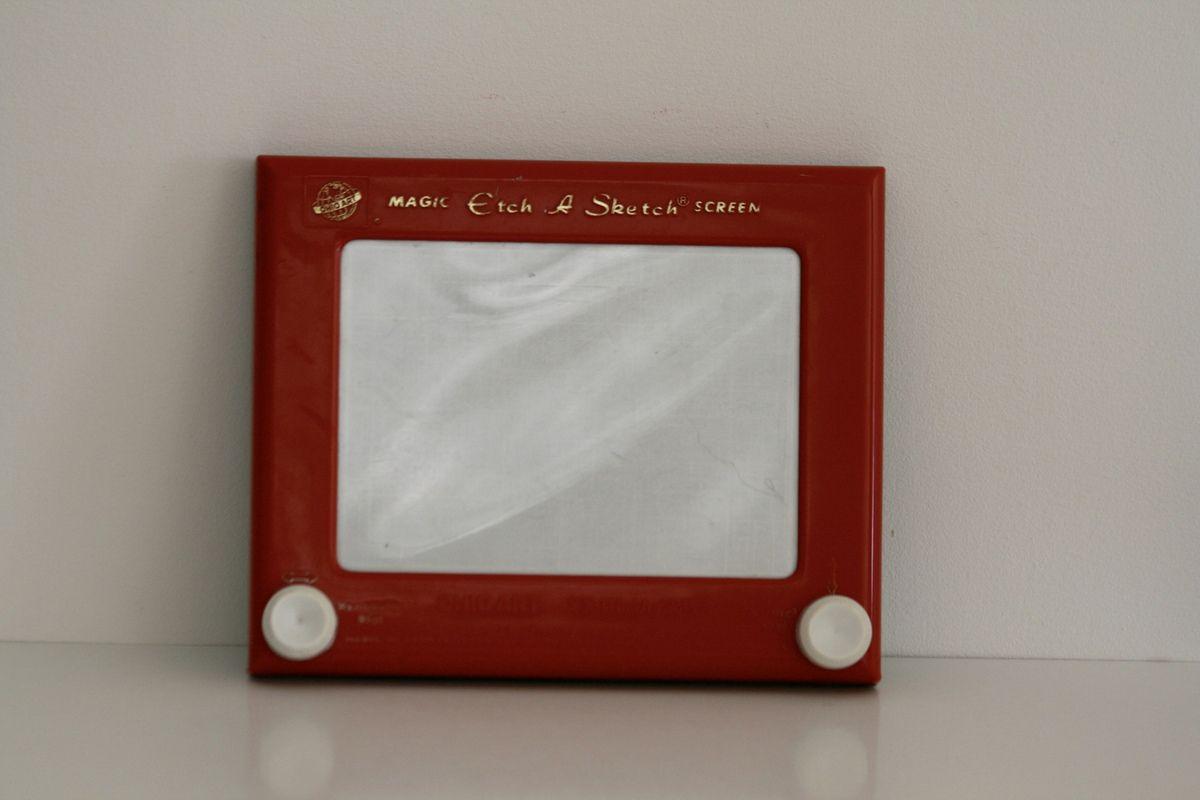 Télécran rouge Hohio Art Années 70 - Vintage