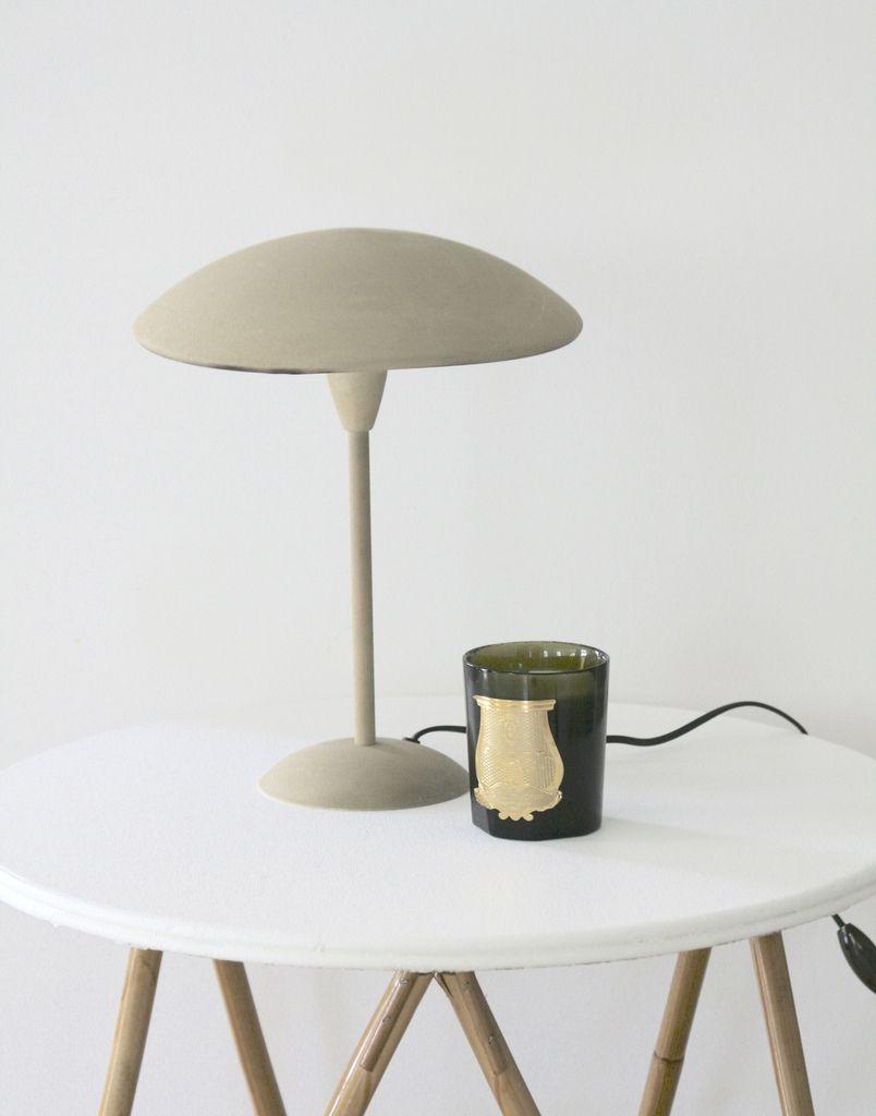 Lampe Champignon Métal beige Vintage