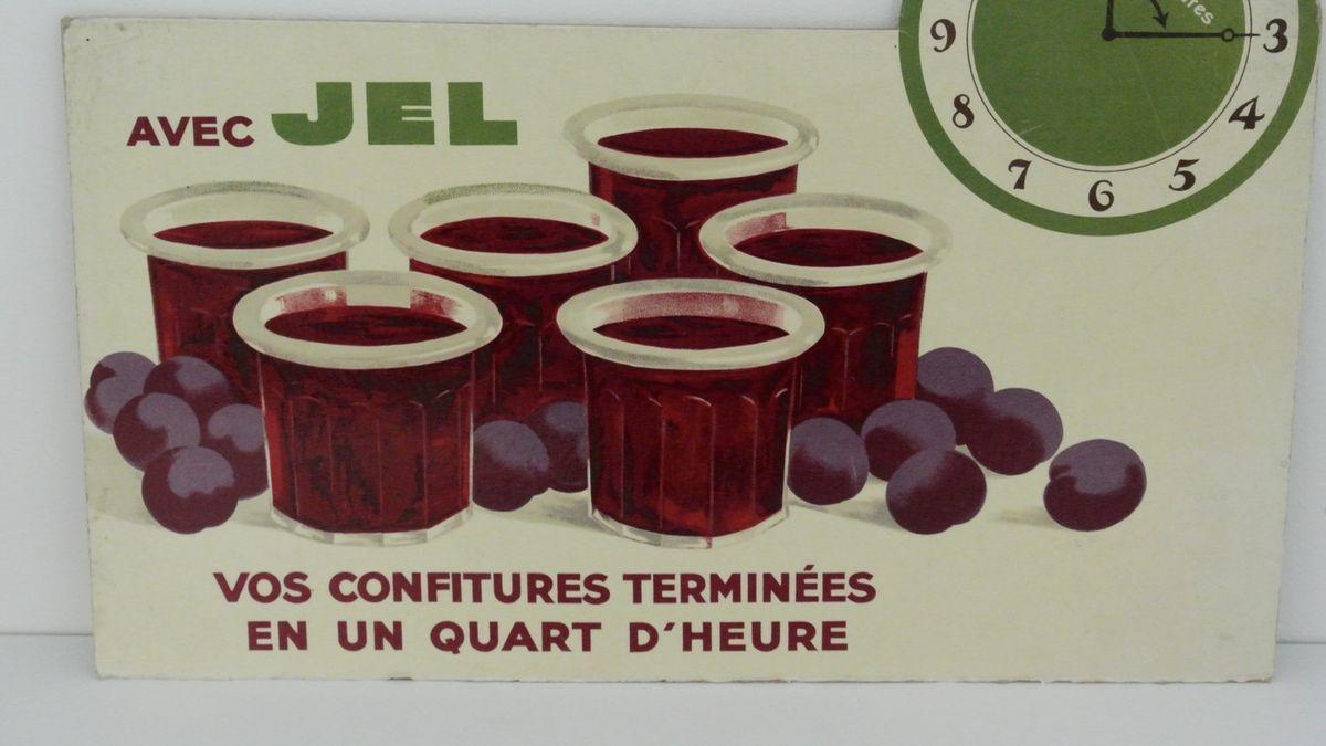 Affiches Publicitaires JEL pour confiture Années 60 - Vintage