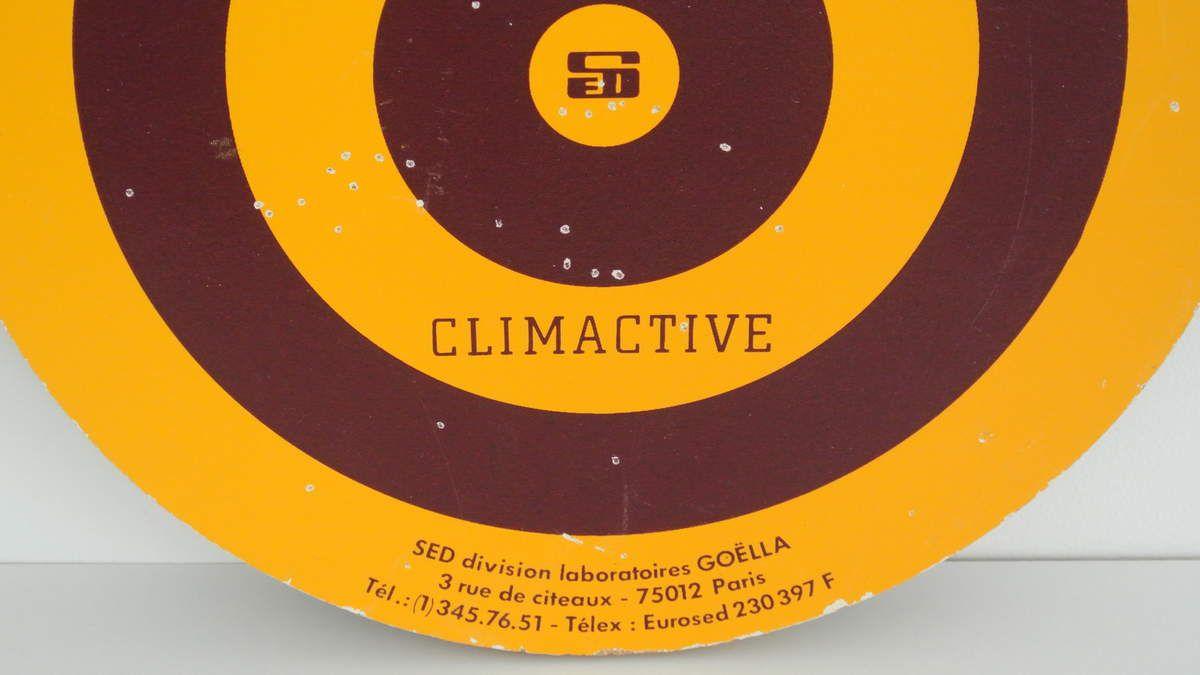 Cible à flèchettes Publicitaire Climactive Années 70 - Vintage