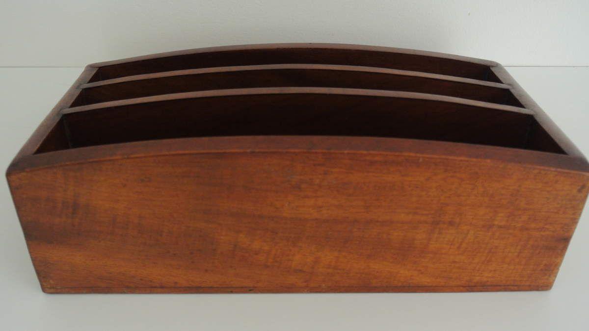 Porte courrier en bois Vintage
