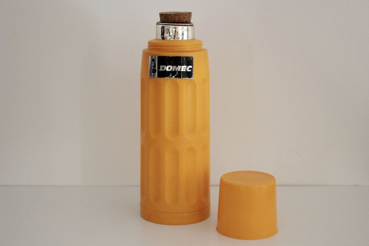 Thermos Domec orange Années 70 - Vintage