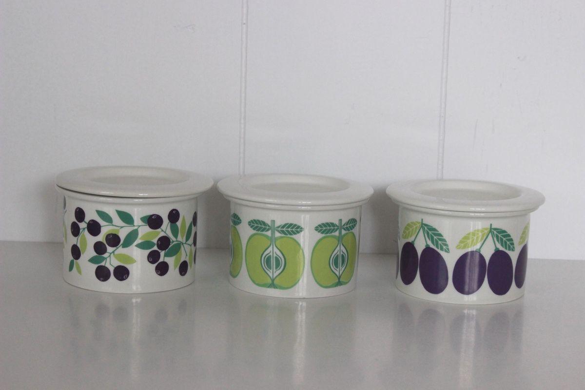 Pot décor Pomme ou Baies  Arabia Design Finland Années 70 - Vintage