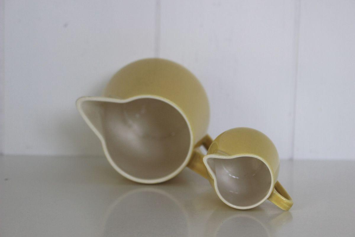 2 pots à lait jaunes Villeroy et Boch Années 60 - Vintage