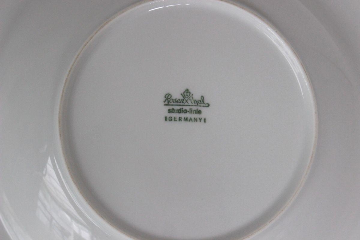 Lot de 6 assiettes creuses en porcelaine Rosenthal Décor bleu