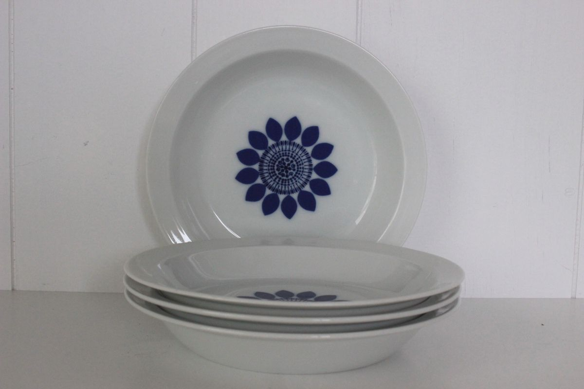 Lot de 4 assiettes Lorenz Germany Années 70 - Vintage