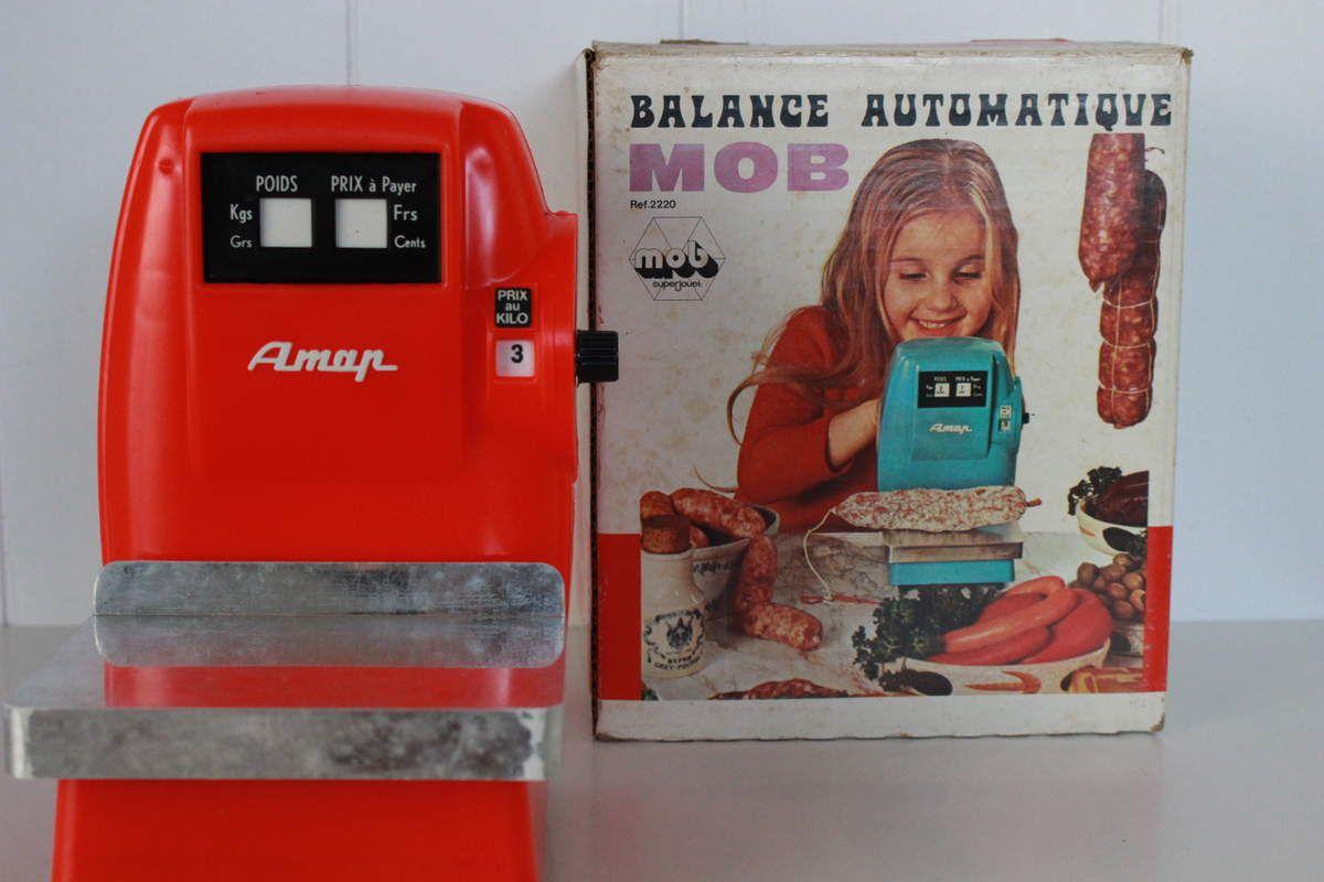 Jouet Balance Aman Mob Années 70 - Vintage