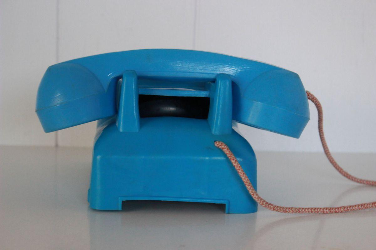 Téléphone Jouet TeleFalk Années 70 - Vintage