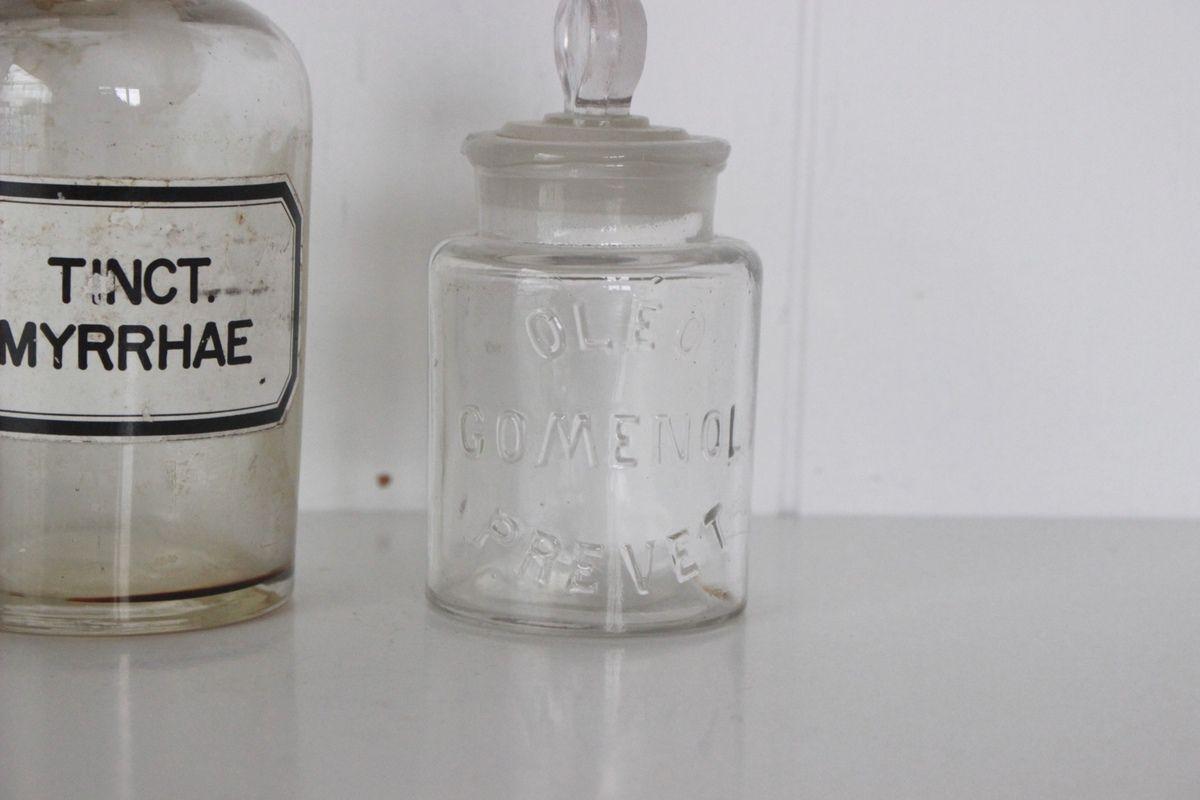 Anciens Flacons de pharmacie flacons d'apothicaire Vintage