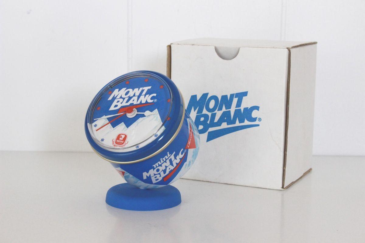Petite pendule horloge publicitaire Mont Blanc