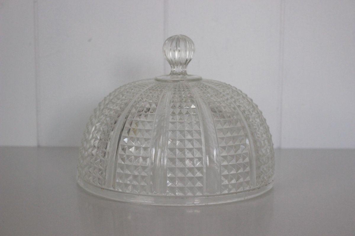 Cloche en verre moulé Vintage