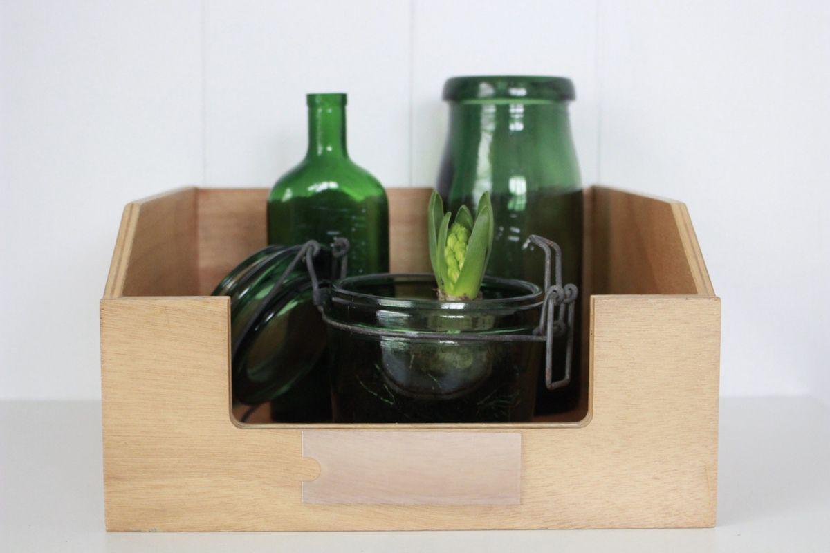 Caisse casier caisson en bois Vintage