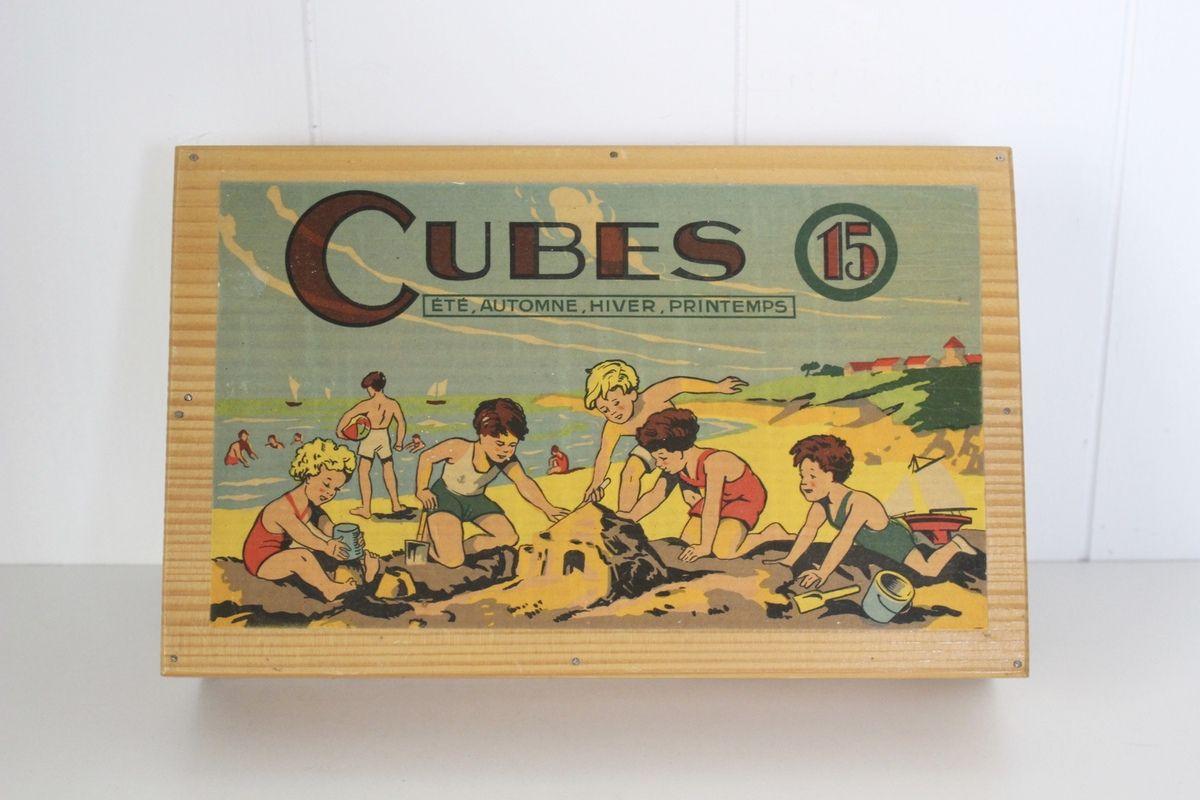 Ancienne boite de cubes Années 60 - Vintage