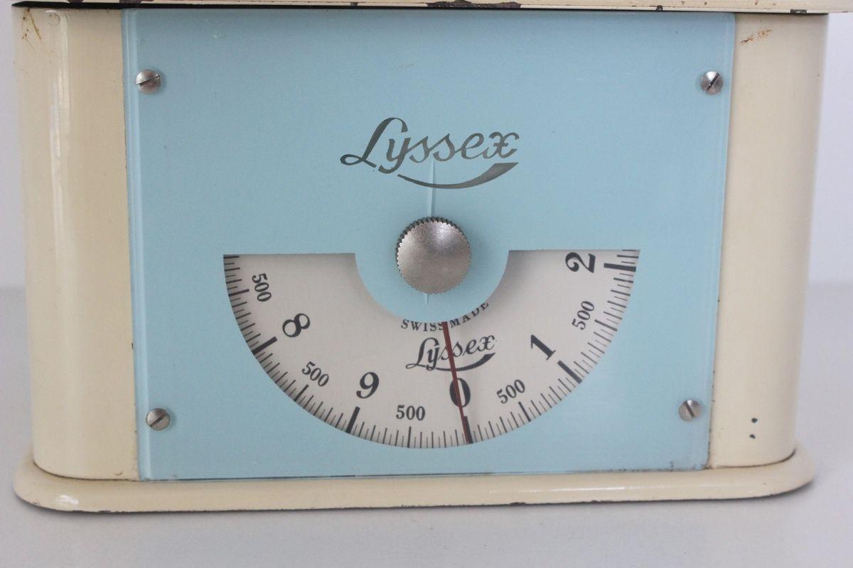 Balance Lyssex Bleu et beige Années 60 - Vintage