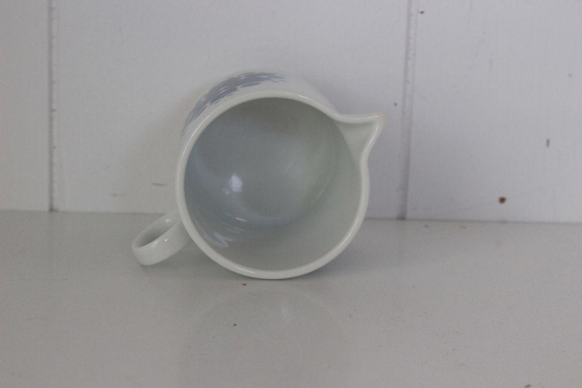 Pot à lait décor bleu Thomas Années 70 - Vintage