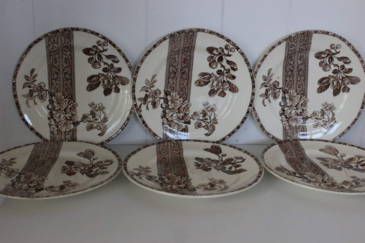 Lot de 6 assiettes plates Bourgeois Rue Drouot Paris