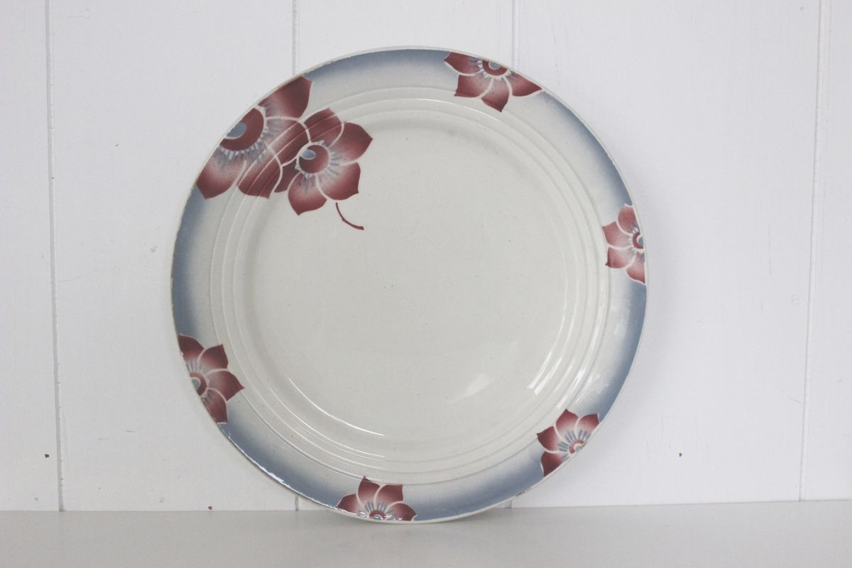 Plat rond Saone Céranord St Amand Vintage
