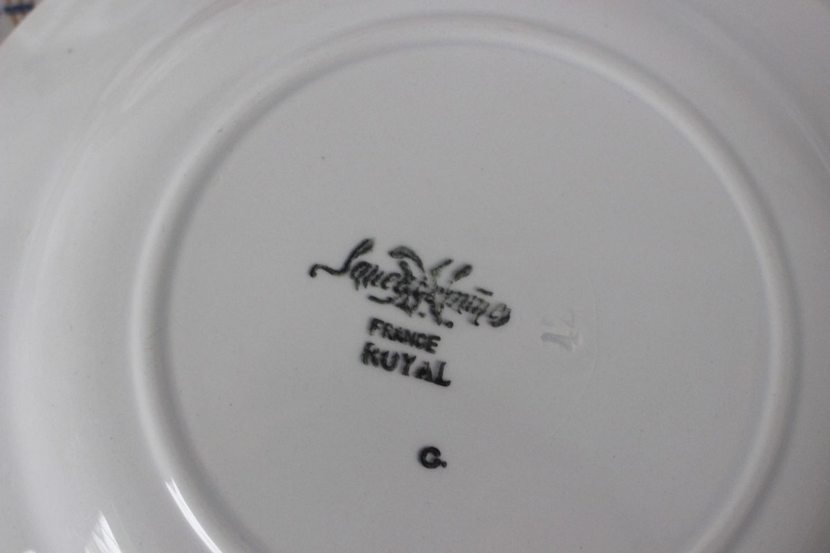 Lot de 6 assiettes plates Sarreguemines Royal Vintage