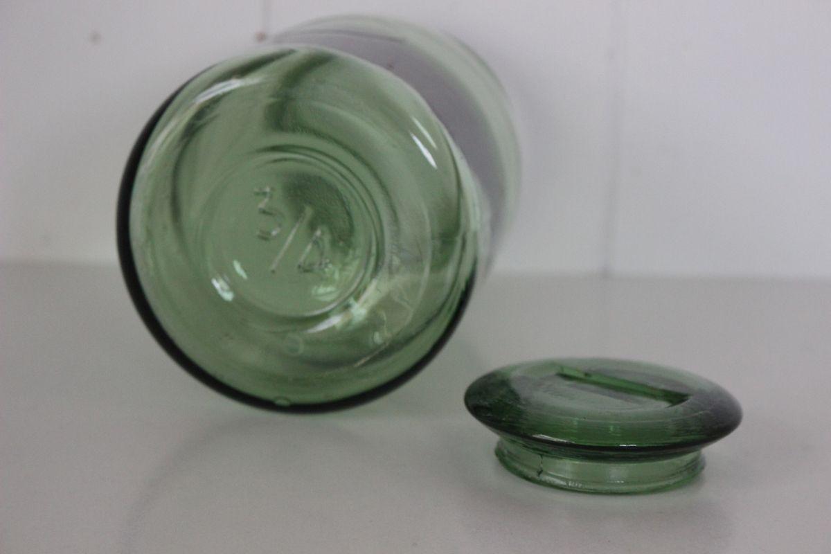 Pot en verre ancien 3/4 L Année 60 - Vintage