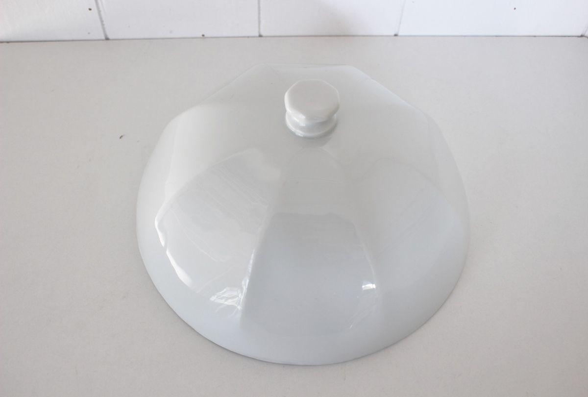 Ancienne cloche en porcelaine blanche Vintage