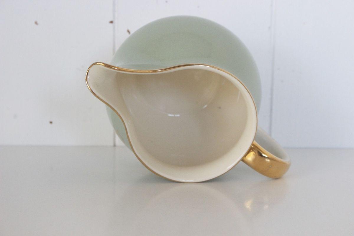 """Pot à lait """" Nous Deux """" Villeroy et Boch vert Années 60 - Vintage"""