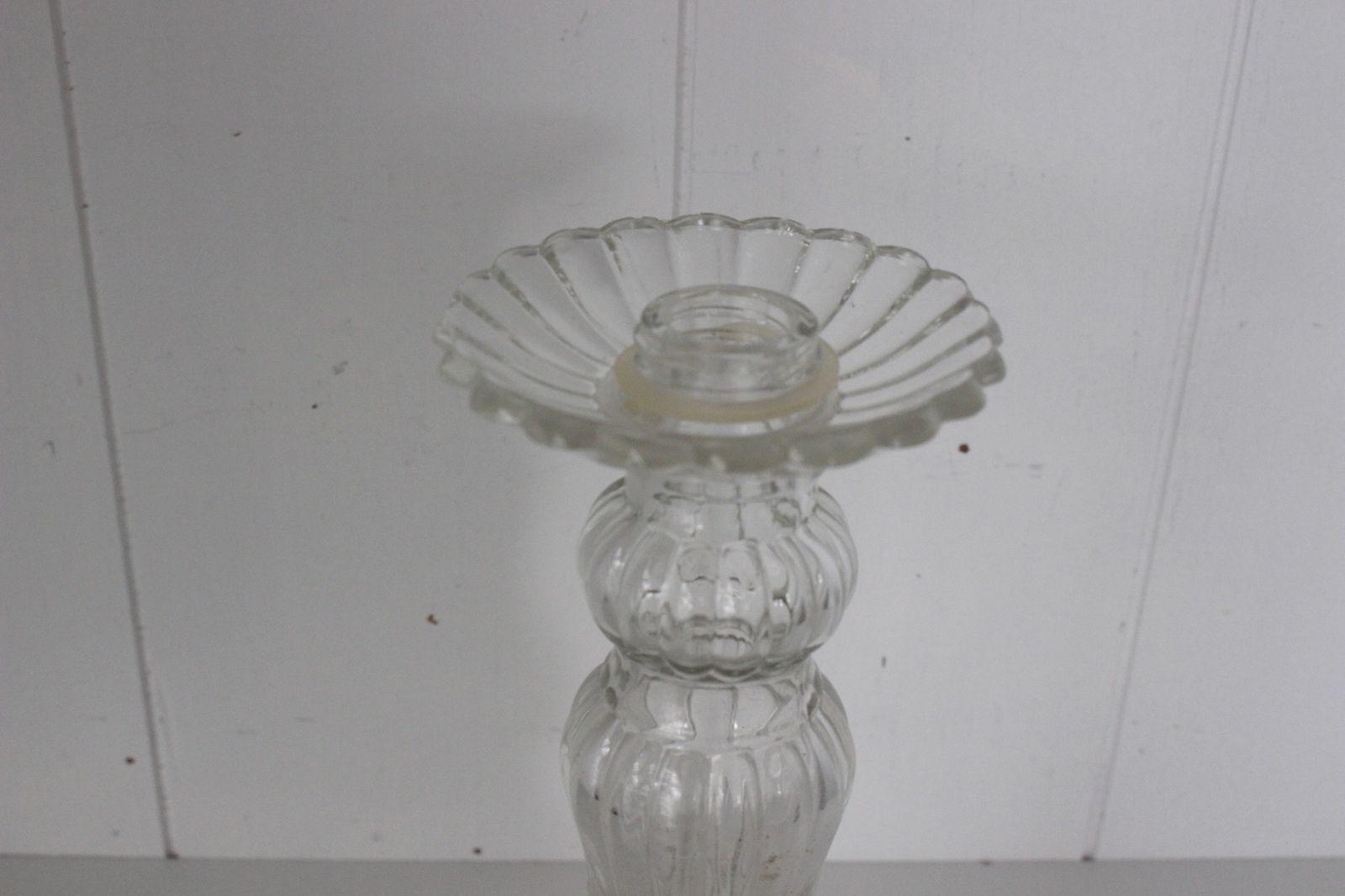 Chandelier flacon en verre moulé Roger et Gallet Vintage
