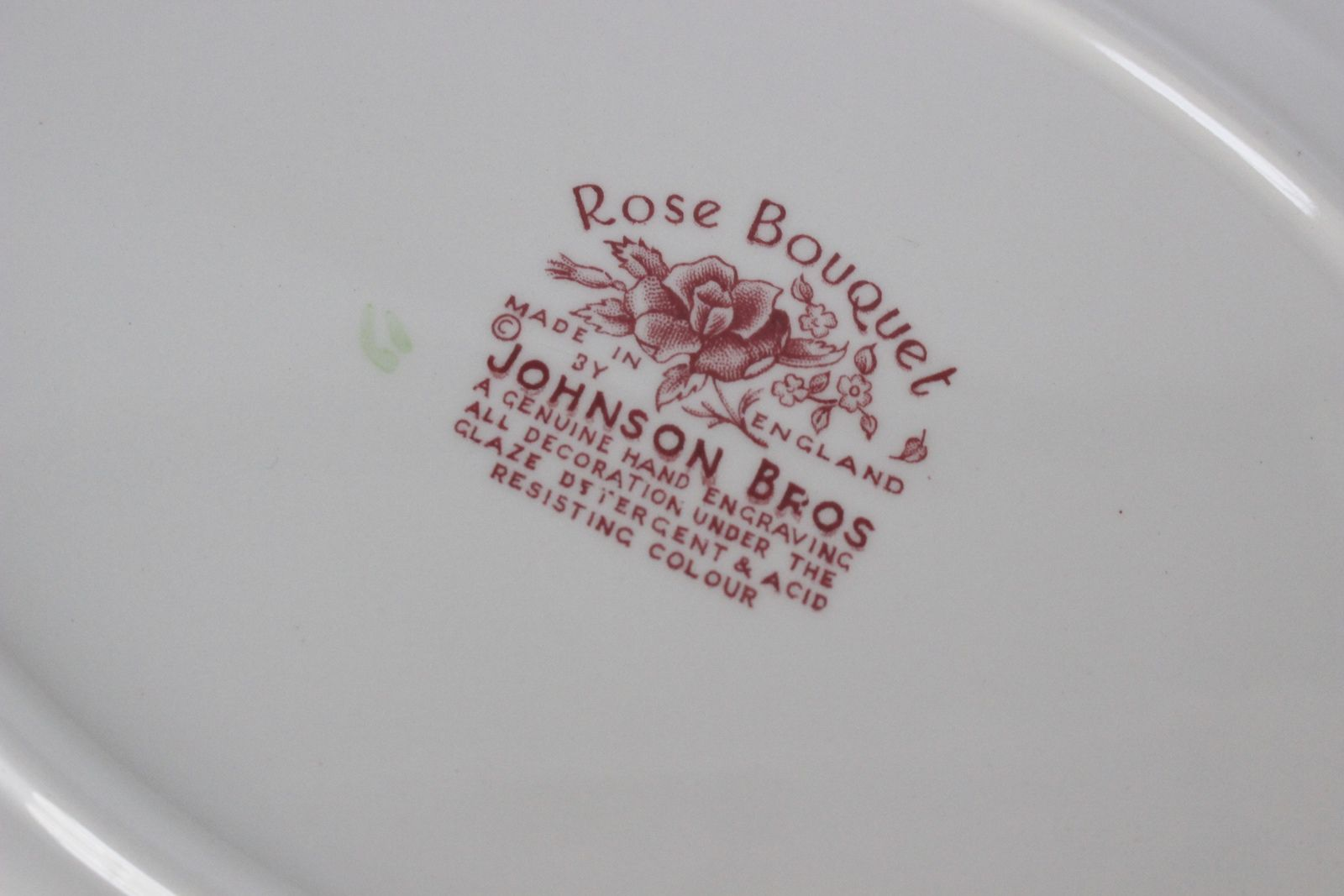 Plat Rose Bouquet Johnson Bros Made in England
