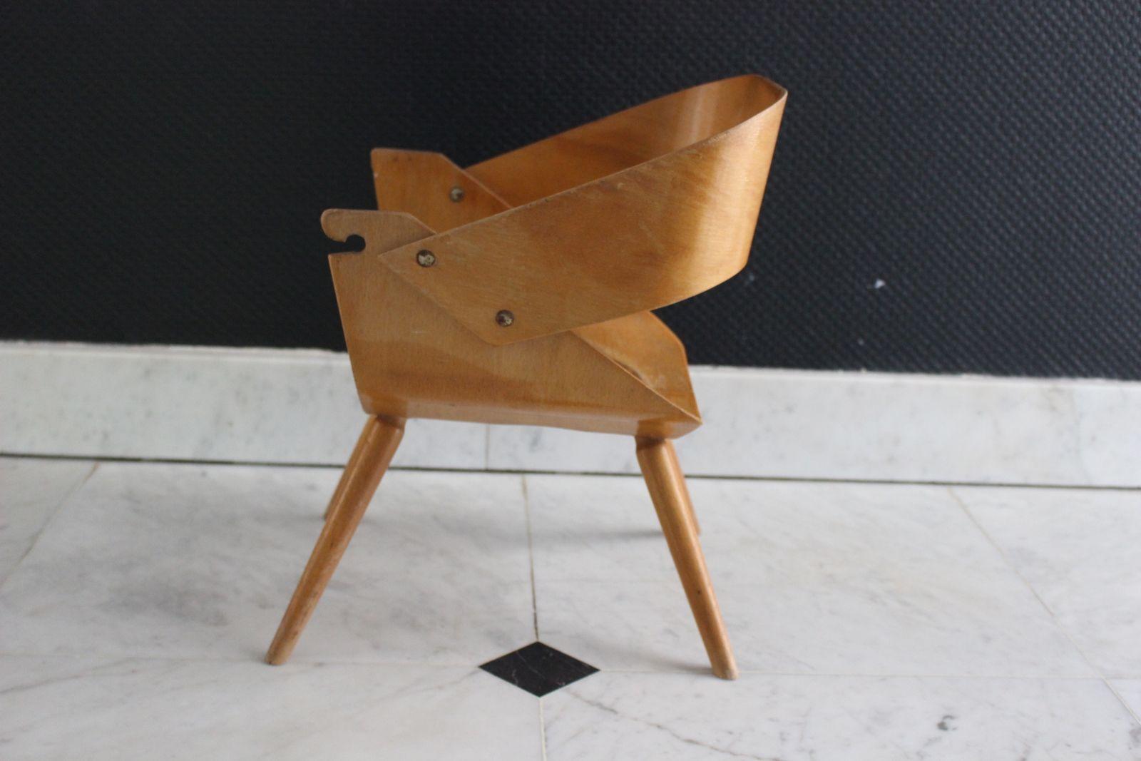 Petite chaise à pot enfant en bois Années 60 - Vintage
