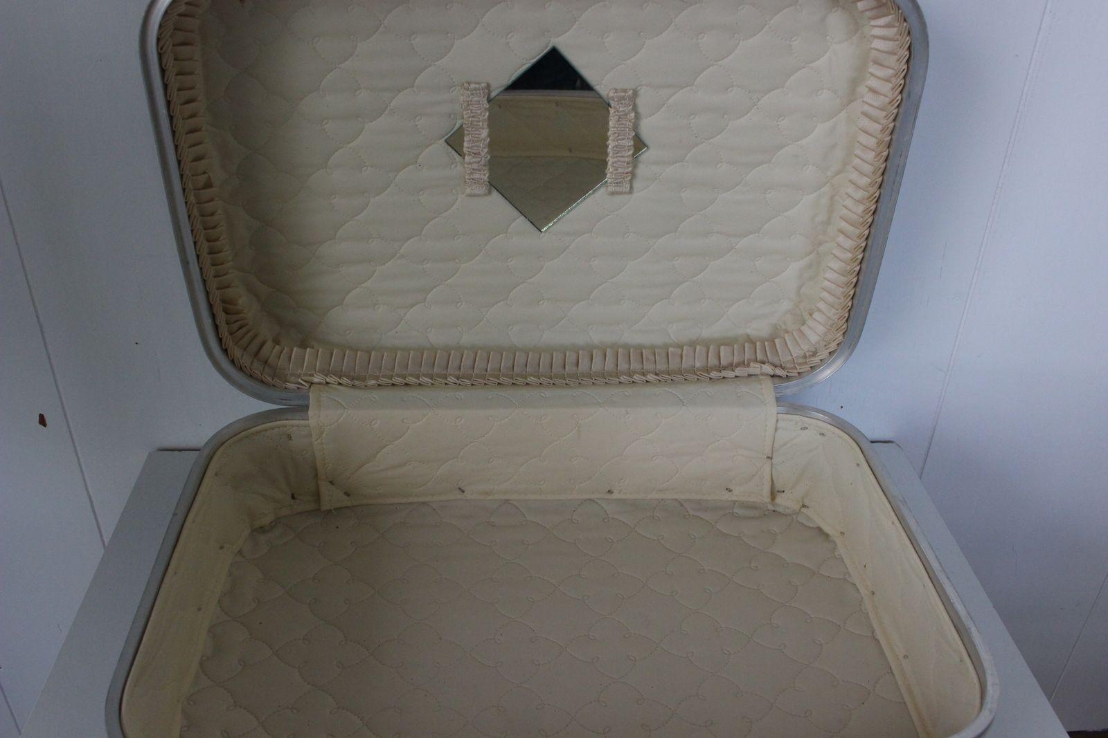 Petite valise Hotesse de l'air bleue ou grise Vintage