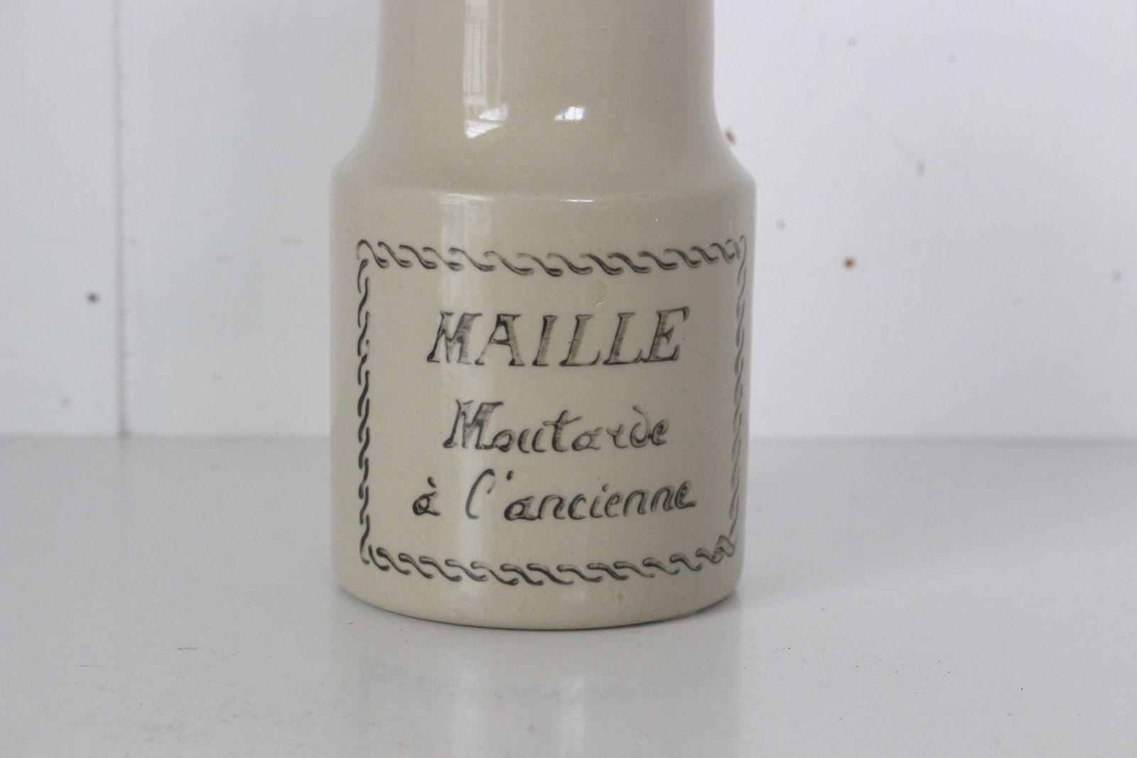 Ancien pot à moutarde Maille Vintage