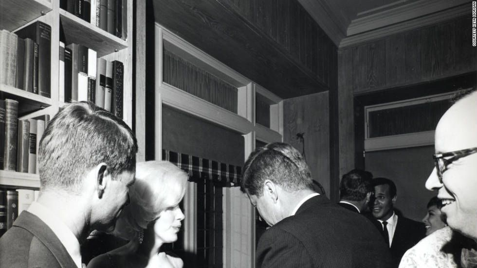 This rare shot of Robert F. Kennedy, Marilyn Monroe and president John F.Kennedy.