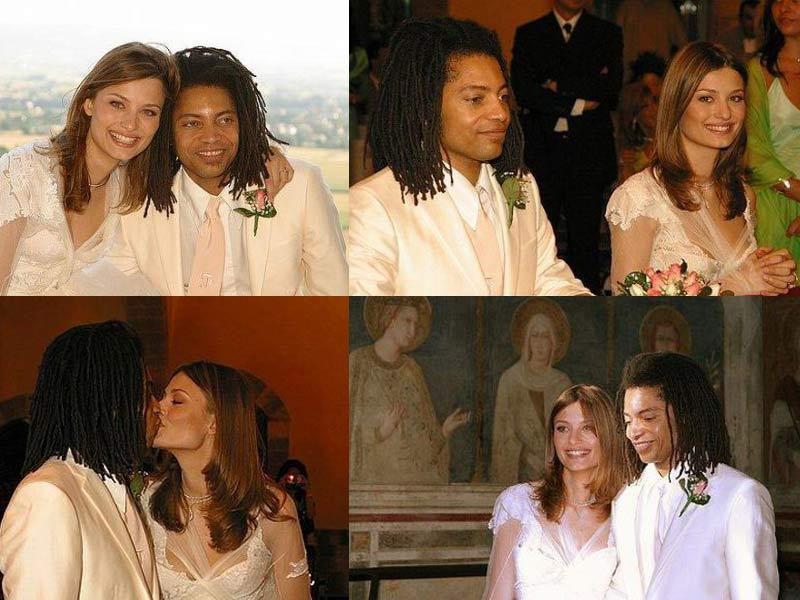 Sananda Maitreya le jour de son mariage avec Francesca Francone à Assise (Italie) le 30 juin 2003.