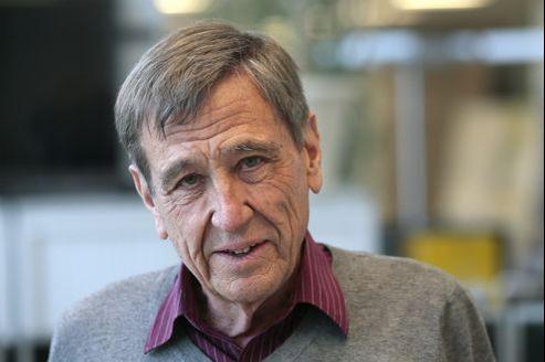 Léonide Kameneff, fondateur de L'École en bateau, le 15 février 2013. JACQUES DEMARTHON/AFP