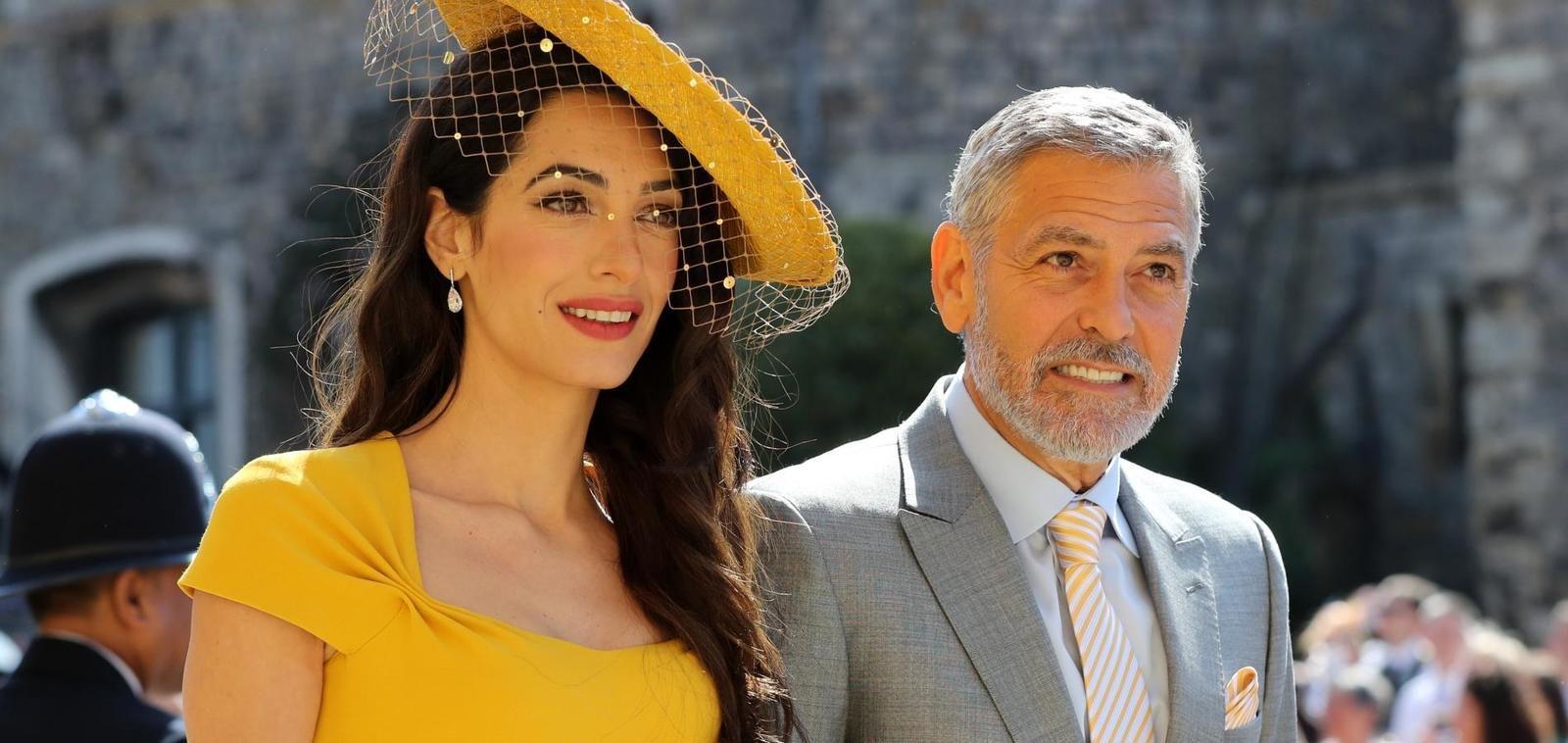 George Clonney et Amal, lors du mariage de Meghan et Harry, duc et duchesse de Sussex.