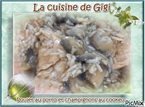 Poulet au porto et champignons au cookeo