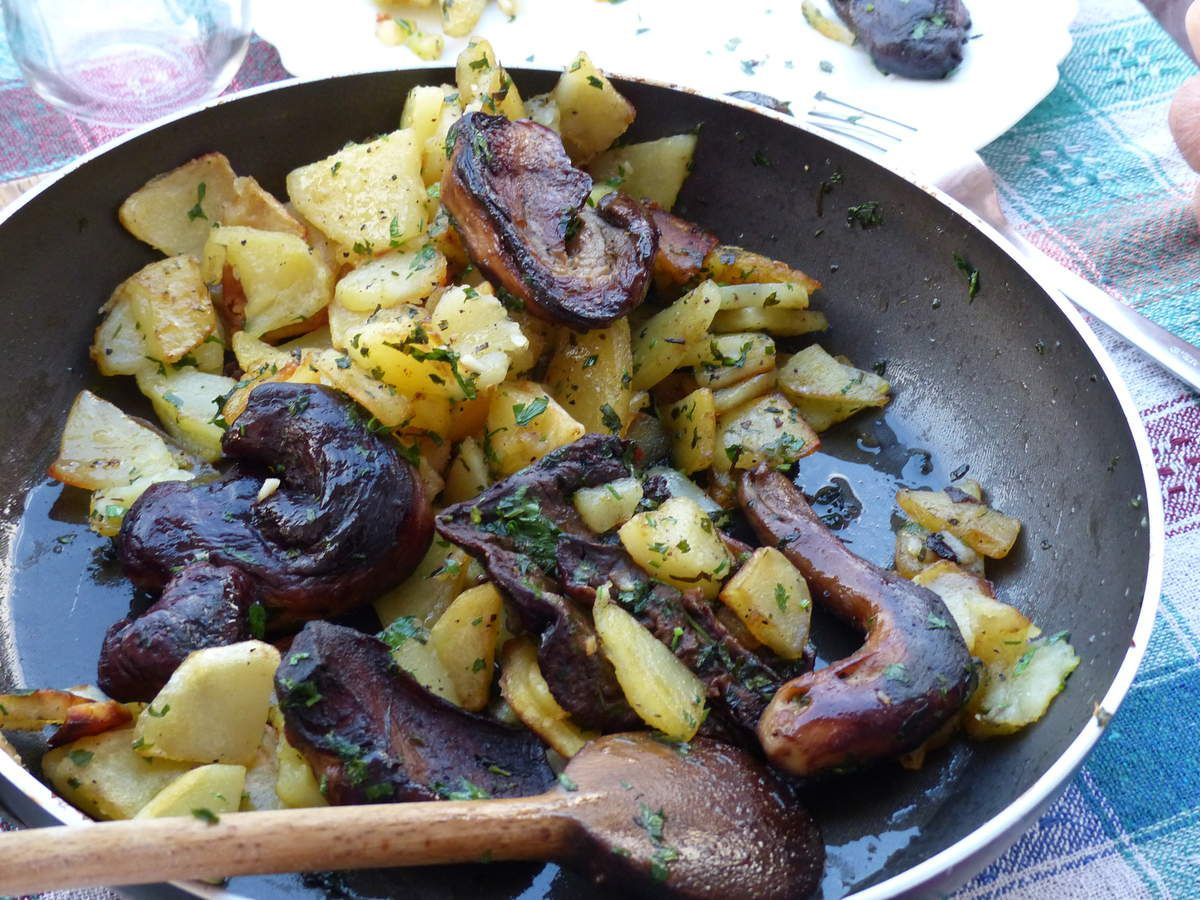 Pommes de terre et cèpes
