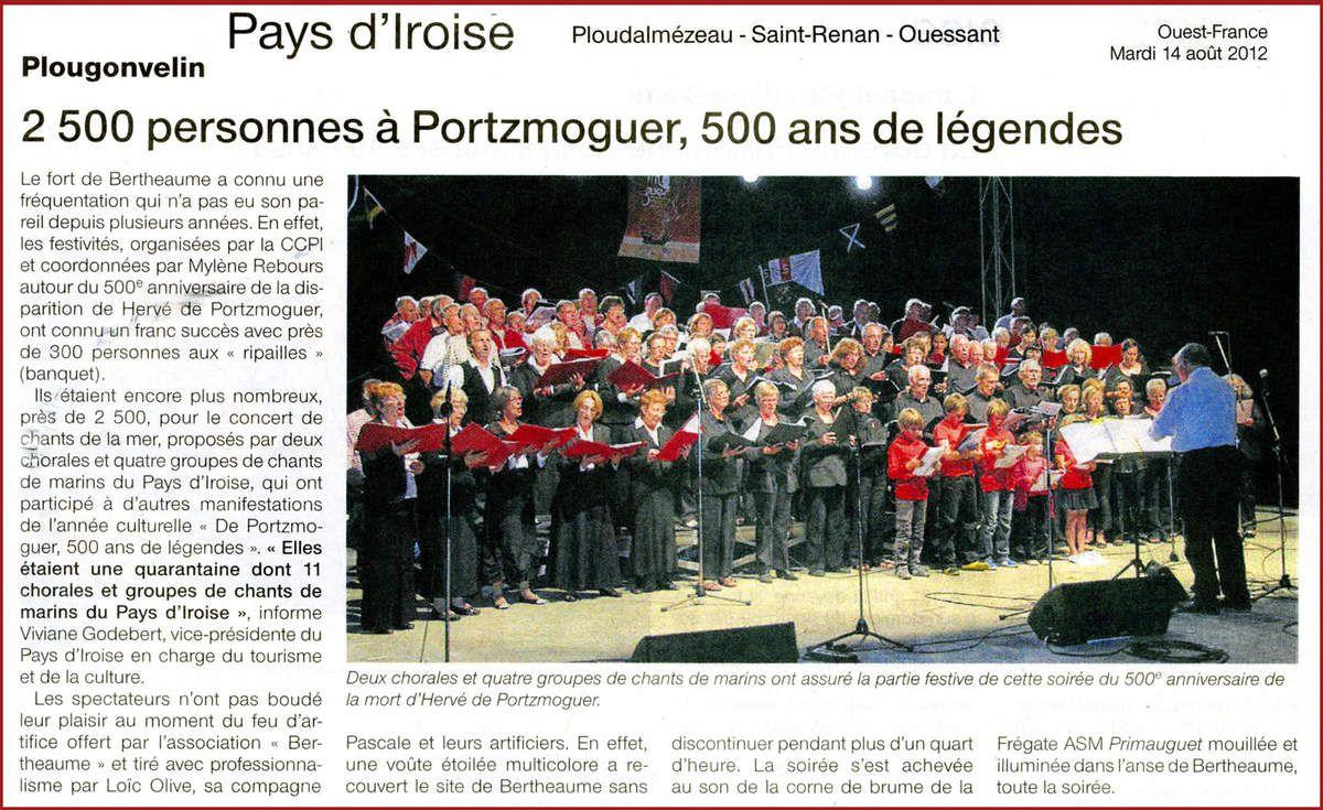 Les articles de presse 2012 relatant l'actualité de l'association Aux Marins.
