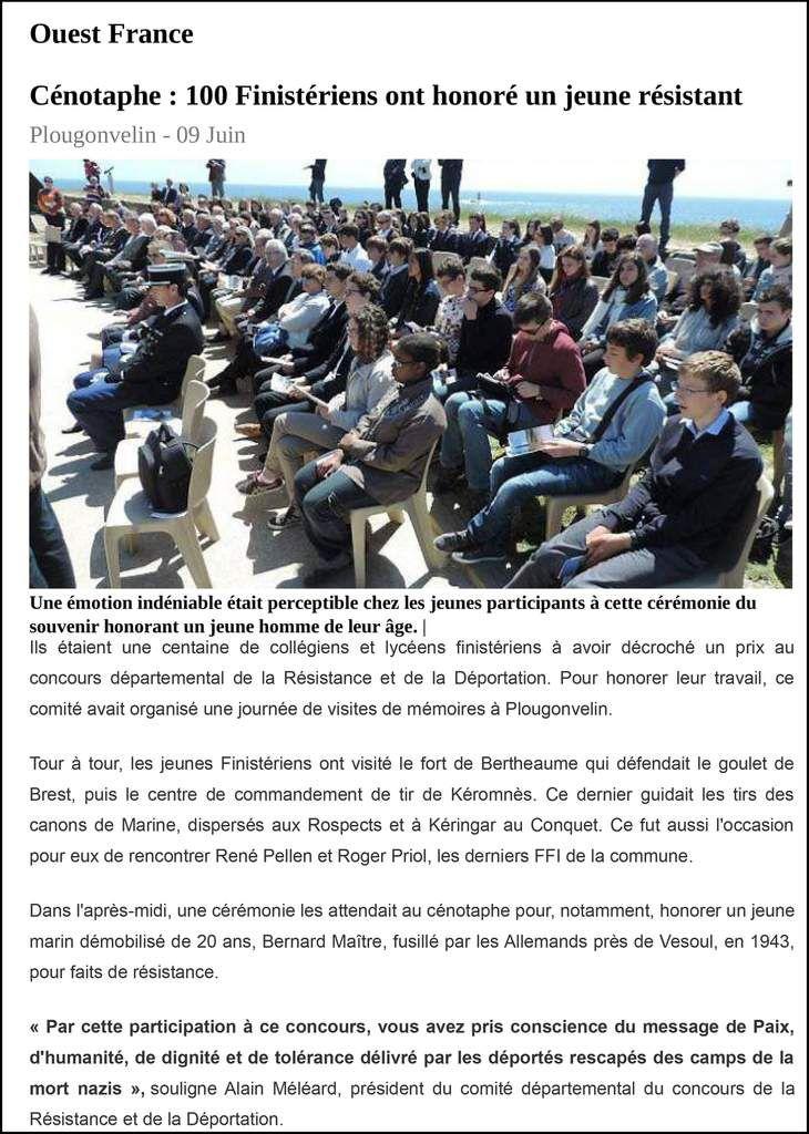 L'actualité de l'association Aux Marins à travers la presse.