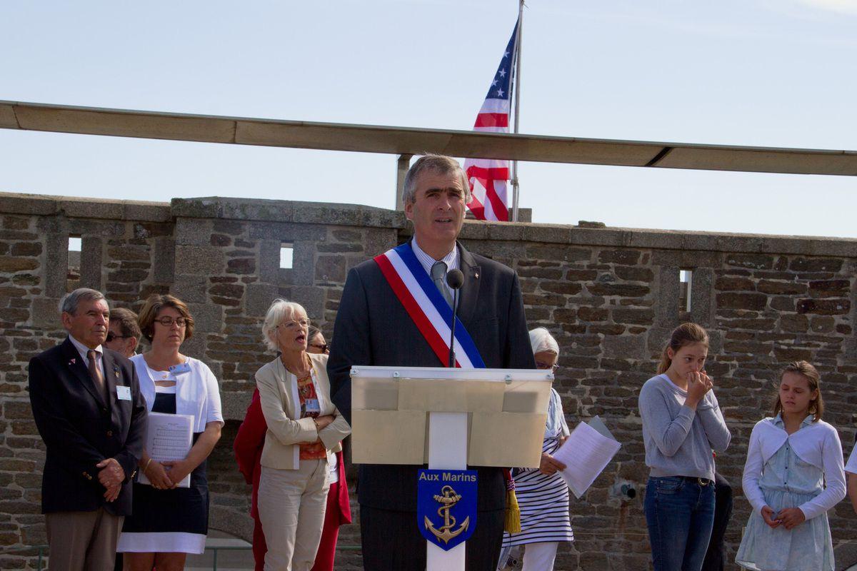 M. Bernard Gouérec, président du syndicat mixte de la Pointe Saint-Mathieu et maire de Plougonvelin - photographie : Jean-Jacques Tréguer (association Aux Marins)