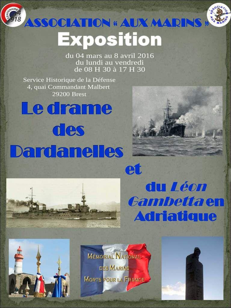Exposition : le drame des Dardanelles et du Léon Gambetta en Adriatique