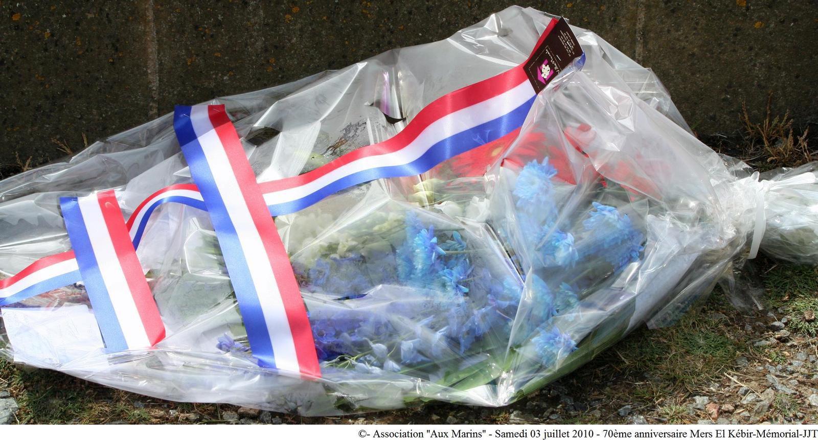 03 juillet 2010 - cérémonie du 70ème anniversaire de la tragédie maritime de Mers-el-Kébir au mémorial national des marins morts pour la France de la Pointe Saint Mathieu