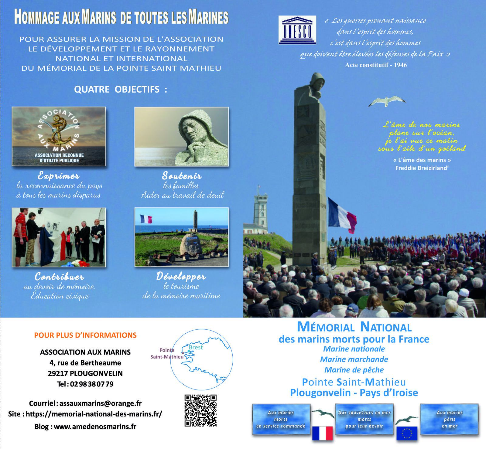 Flyer de l'association Aux Marins