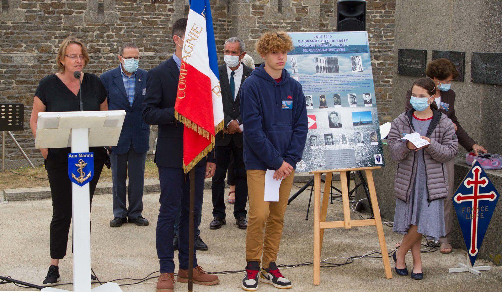 12 AOÛT 2020 - HOMMAGE À L'AMIRAL ÉMILE CHALINE - LES PHOTOGRAPHIES