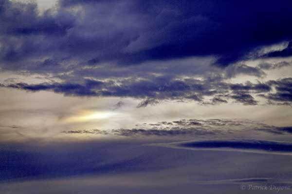 Une irisation des nuages du soir.