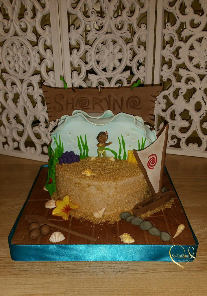 Comment realiser le cake design Moana