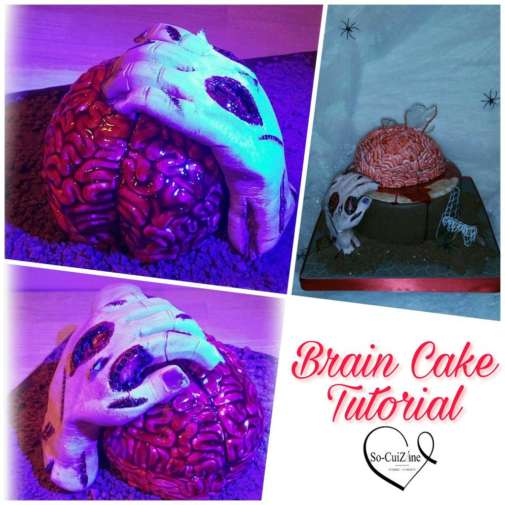 Are you scared - How make a Brain Cake (Tutorial)