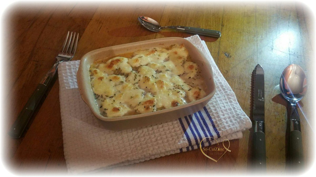 Gratin de butternut light