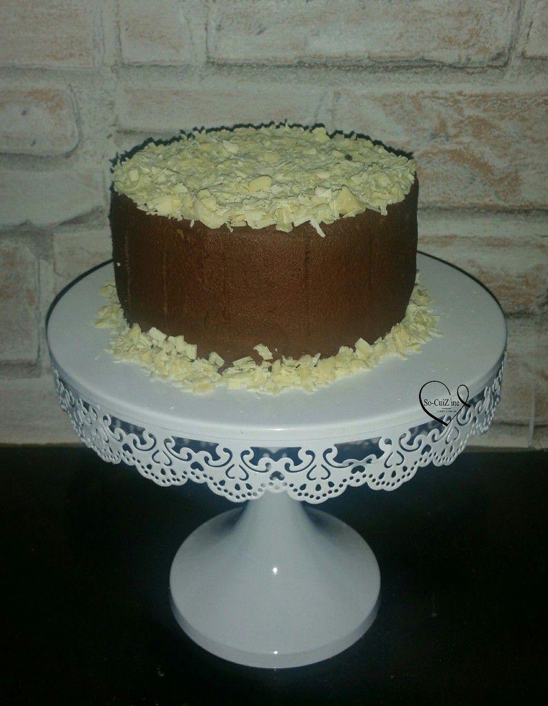 Gâteau à la ganache montée Abtey et ses copeaux de chocolat blanc